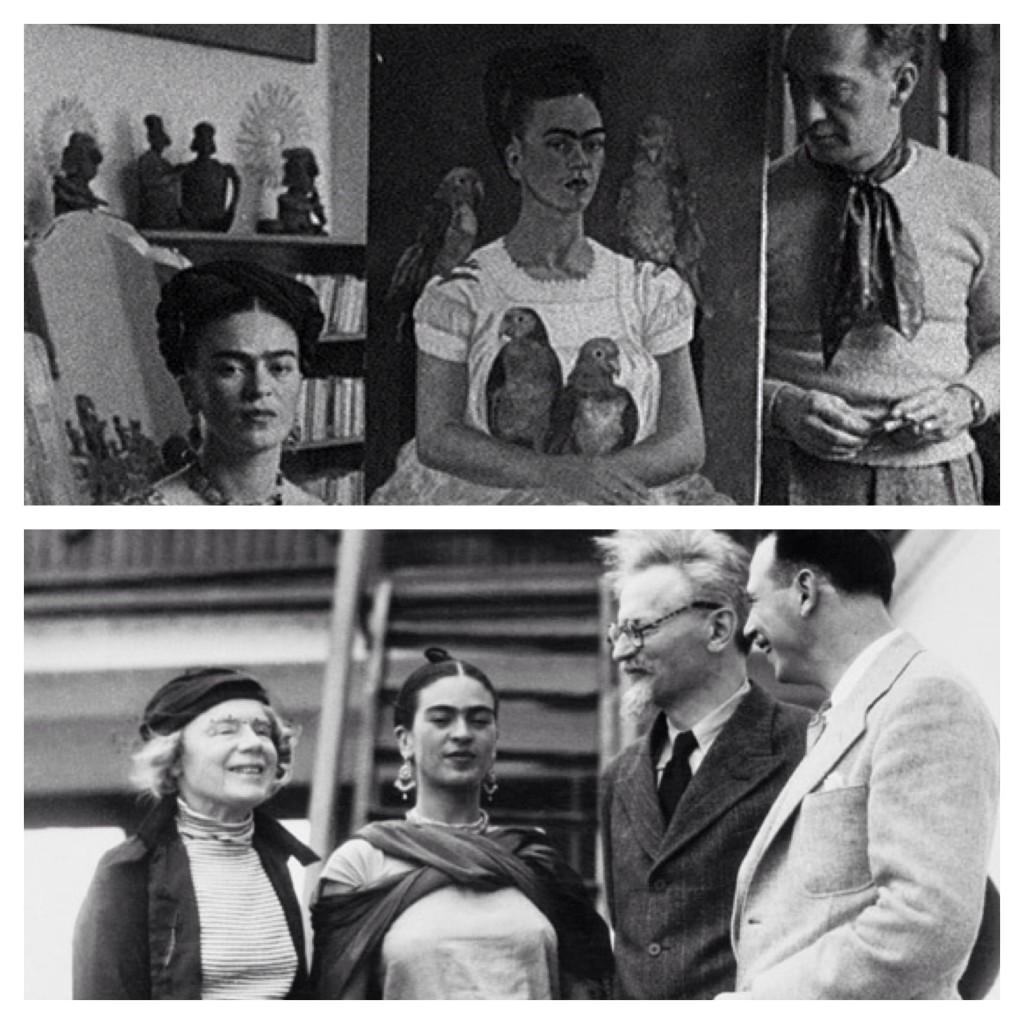 Frida e André Brteon / Ela com Trostsky