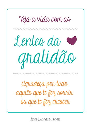 Pôster Lentes da Gratidão